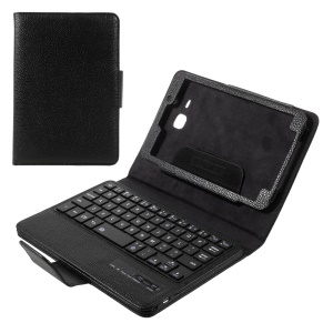 For Samsung Galaxy Tab A 7.0 T280 T285 Detachable Bluetooth Keyboard Litchi Leather Stand Case - Black