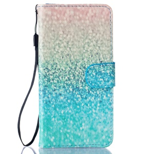 Leather Wallet Leather Case for BQ Aquaris M5 5.0-inch - Glittery Pattern
