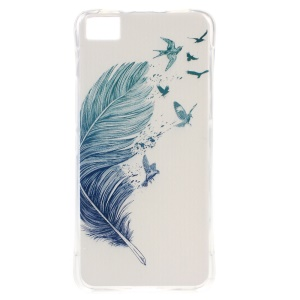 Drop-resistant TPU Soft Skin Case for BQ Aquaris M4.5 - Feather Birds