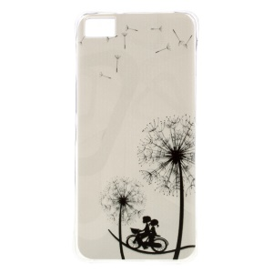 Air Cushion Flexible TPU Shock Resistant Cover for BQ Aquaris M5 5.0-inch - Lovers and Dandelion