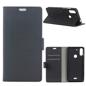Wallet Leather Stand Case for Wiko View2 Plus - Black