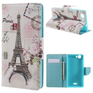 Wallet Leather Stand Case for Wiko Pulp - Paris Eiffel Tower