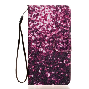 Wallet Leather Flip Phone Case for Wiko Rainbow Jam 4G - Purple Fragment