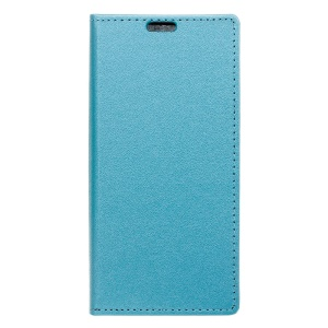 Sand-like Texture PU Leather Stand Case for Wiko Tommy - Baby Blue