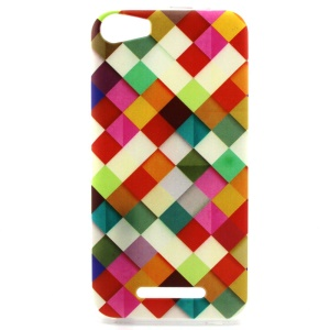 Soft TPU Case for Wiko Lenny2 - Colorful Checks