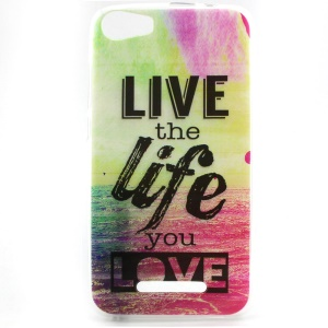 Soft TPU Case for Wiko Lenny2 - Quote Live the Life You Love