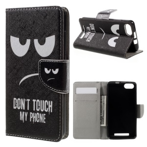 Leather Wallet Stand Case for Wiko Lenny 3 - Angry Face
