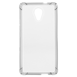 Clear Glossy Impact-resisting TPU Phone Cover for Wiko Robby/S-KOOL- Grey