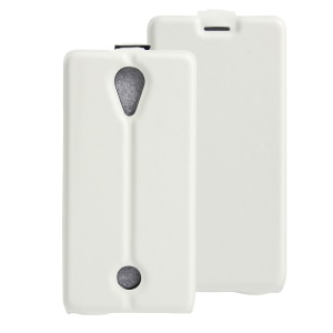 Vertical Flip Leather Cover with Card Slot for Wiko Tommy - White