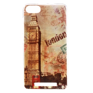 Patterned TPU Back Case Cover for Wiko Lenny 3 - Postmark Style London Big Ben