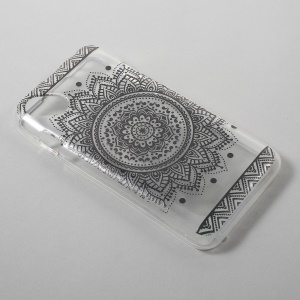 For Wiko Sunset2 Pattern Printing 1.2mm TPU Gel Case - Mandala Flower