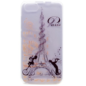 Pattern Printing TPU Shell Case for Wiko Lenny 3 - Paris Eiffel Tower