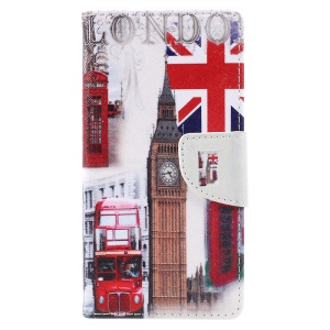 Patterned Leather Card Holder Cell Phone Case for Wiko U Feel Lite -  London Elements