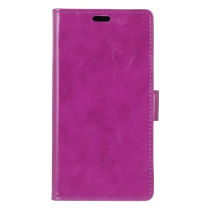 Crazy Horse Texture Wallet Stand Magnetic Leather Case for Wiko Sunny Max - Purple