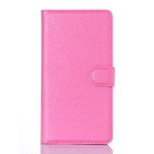 Litchi Texture Wallet Leather Phone Case for Doogee Kissme DG580 - Rose