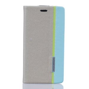 Two-color Leather Stand Cover for Doogee X5 Max - Grey