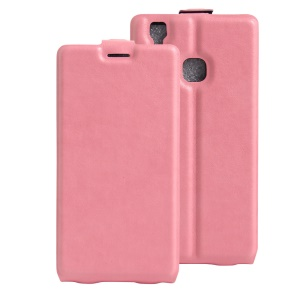 Crazy Horse PU Leather Vertical Case for Doogee X5 Max - Pink