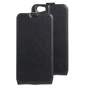 Crazy Horse Vertical Flip Leather Card Slot Case for Doogee T6 / T6 Pro - Black