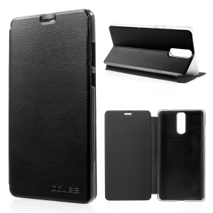 OCUBE Stand PU Leather Folio Case for Doogee Y6 Max - Black