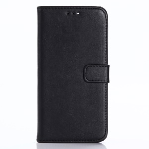 Crazy Horse Stand Wallet Leather Cell Phone Case for Doogee X5 - Black