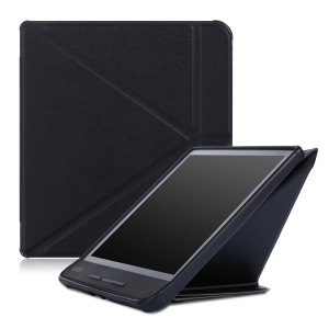 Origami Stand Leather Smart Case for Kobo Forma - Black