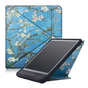 Pattern Printing [Origami Stand] Leather Smart Case for Kobo Forma - Wintersweet