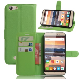For Cubot Note S Litchi Texture Magnetic Leather Flip Case - Green