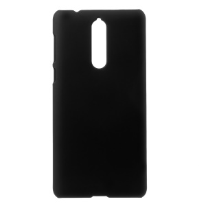 For Nokia 8 Rubberized PC Mobile Phone Case - Black