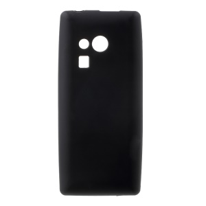 Matte Anti-fingerprint TPU Case Cover for Nokia 216 / 216 Dual SIM - Black