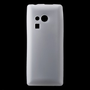 Matte Anti-fingerprint TPU Mobile Casing for Nokia 216 / 216 Dual SIM - White