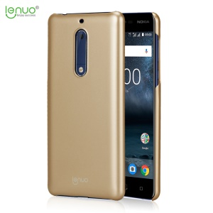 LENUO Leshield Series for Nokia 5 Silky Touch Hard PC Super Thin Phone Cover Shell - Gold