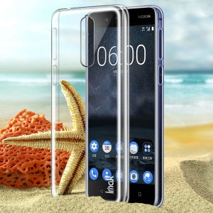 IMAK Crystal Case II for Nokia 8 Scratch-resistance Clear See-through Hard Case