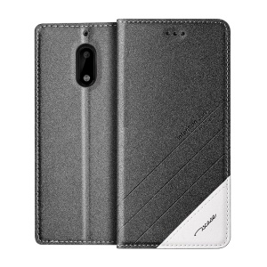 TSCASE Trajectory for Nokia 6 Flip Stand Leather Cellphone Case - Grey