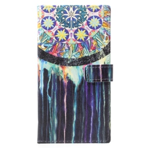 Pattern Printing Wallet Leather Stand Case for Nokia 9 - Dream Catcher