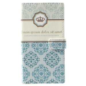 Pattern Printing Wallet Leather Magnetic Case for Nokia 9 - Damask Flower