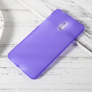 Matte Anti-fingerprint Soft TPU Casing Case for Nokia 6 - Purple