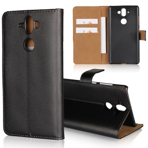 Crazy Horse Genuine Leather Magnetic Wallet Case for Nokia 8 Sirocco - Black