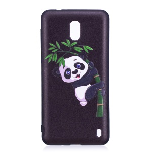 Embossment Patterned TPU Cover Shell for Nokia 2 - Panda and Bamboo