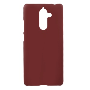 Rubberized PC Hard Phone Case for Nokia 7 plus - Red