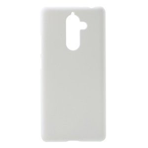 Rubberized PC Hard Mobile Casing for Nokia 7 plus - White