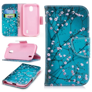 Pattern Printing Leather Wallet Stand Case for Nokia 1 - Wintersweet