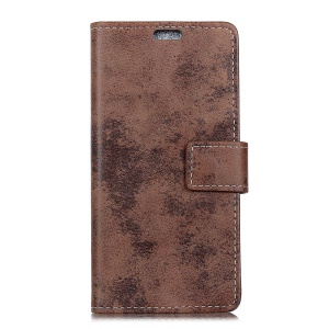 Vintage Style Stand Wallet Leather Mobile Casing for Nokia 7 plus - Brown
