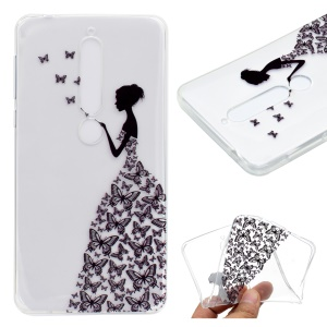 Pattern Printing TPU Case for Nokia 6.1 (5.5-inch) - Beauty Pattern