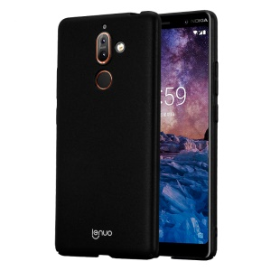 LENUO Silky Touch Hard Plastic Case for Nokia 7 plus - Black