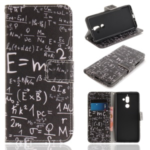 Pattern Printing Wallet Stand PU Leather Casing for Nokia 7 plus - Formula