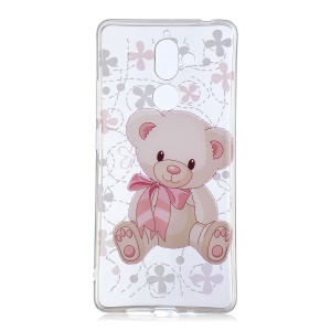 IMD Patterned Soft TPU Mobile Cover for Nokia 7 plus - Cute Bear