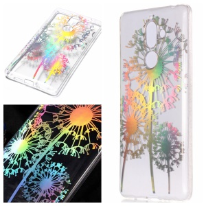 Colorful Laser Carving Patterned TPU Mobile Phone Case for Nokia 7 plus - Dandelion