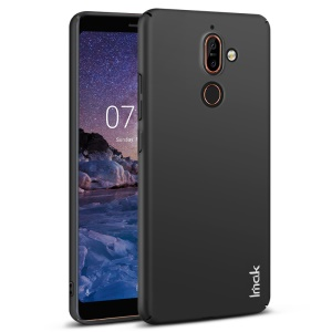 IMAK Jazz Skin Feel Hard Shell Case + Screen Protector Film for Nokia 7 plus - Black