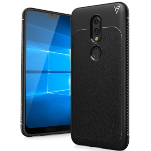 IVSO Gentry Series PU Leather Coated TPU Back Case for Nokia 6.1 Plus / X6 - Black