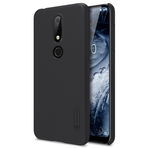 NILLKIN for Nokia 6.1 Plus / Nokia X6 Super Frosted Shield PC Hard Phone Case - Black